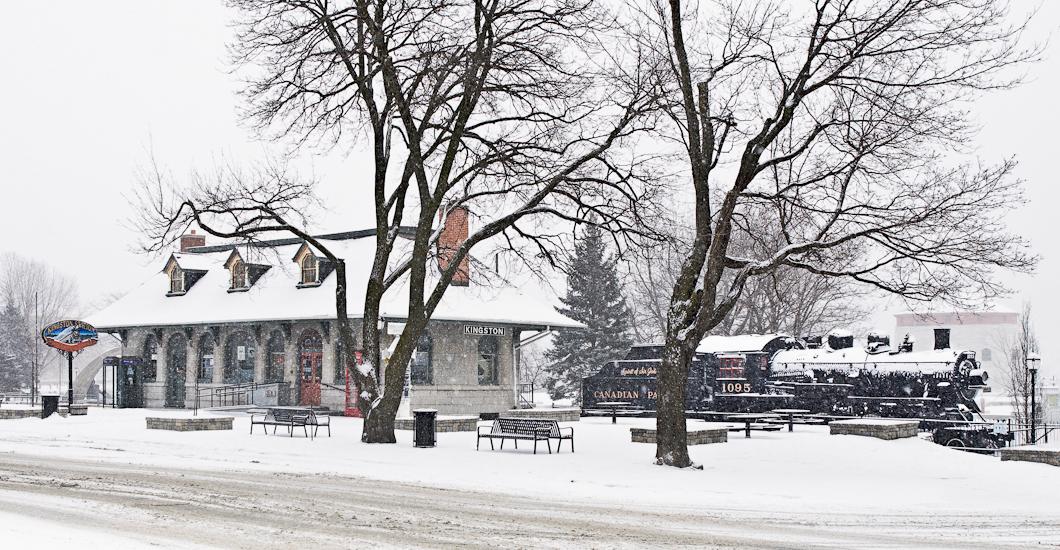 Kingston Station Snowstorm