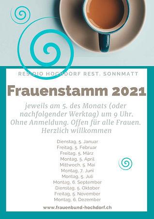 Flyer Frauenstamm Hochdorf 2021