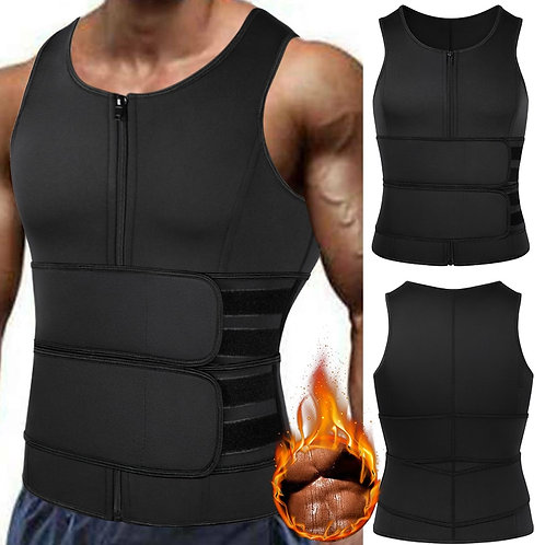 Sauna Waist Trainer Vest for Men Weight Loss Sweat Vest