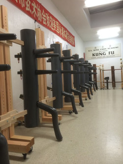 wooden dummy alley at US Wing Chun