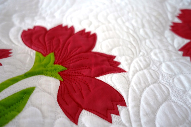 Peony Pride Quilt Detail