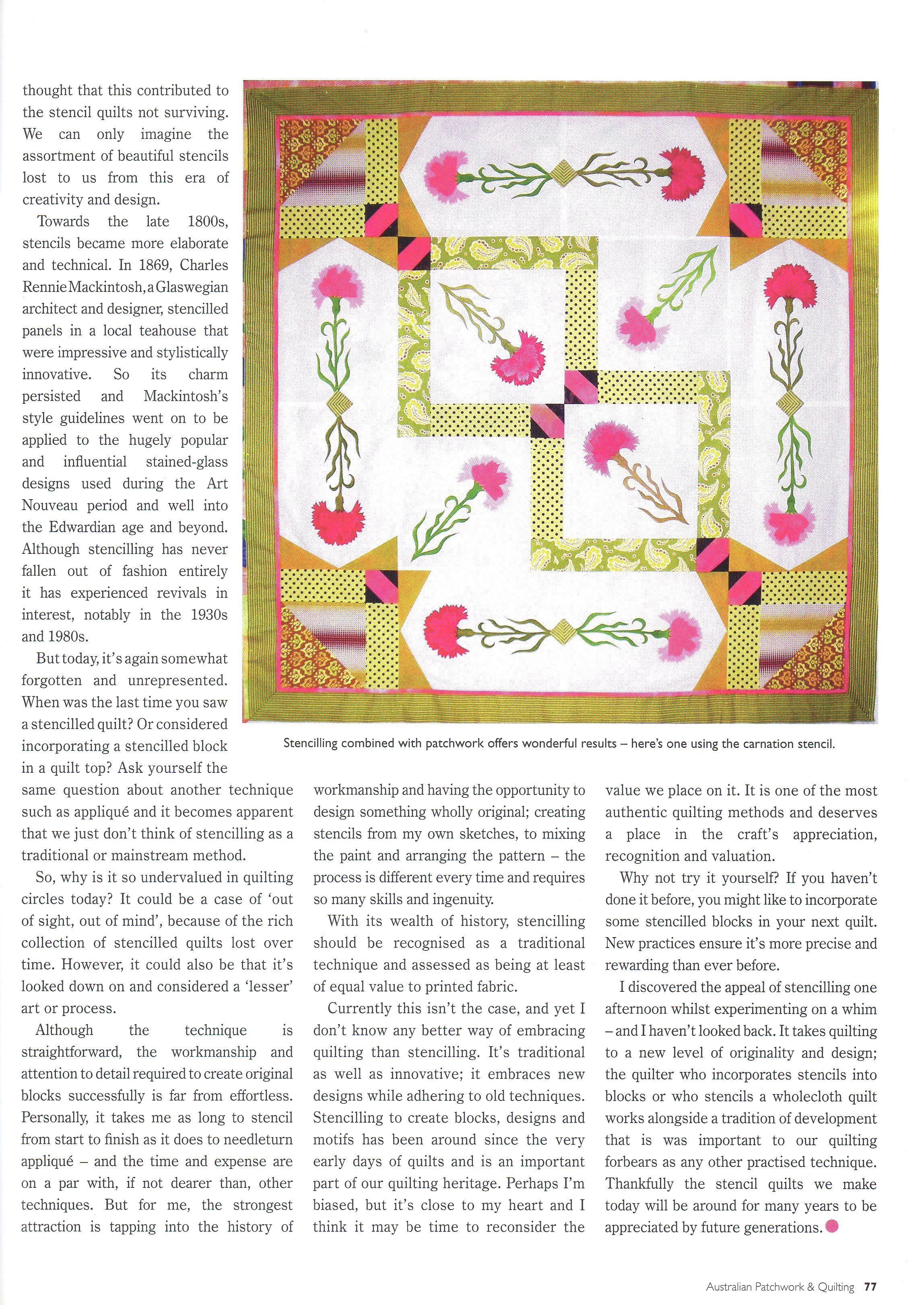 Aust. Patchwork & Quilting 2008 #7