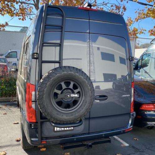 OWL VANS Ladder + Tire Carrier for New Sprinter VS30 (2019+)