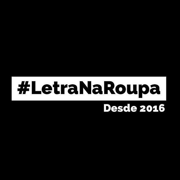Letra Na Roupa Desde 2016 Camisetas Com Poesias Brasil Letra