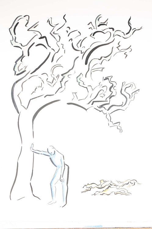 """""""They Broke Our Branches""""  11"""" x 14"""" PRINT"""