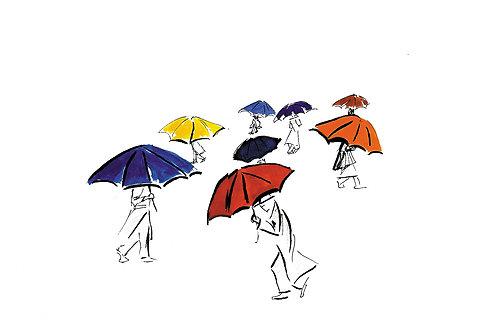 """""""Umbrellas"""" 8.5"""" x 11""""  PRINT"""