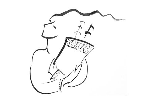 """Girl Holding Torah"", 8.5"" x 11"""