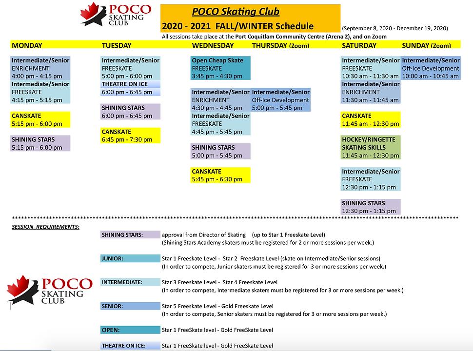 POCO Skating Club 2020-2021 Fall_Winter