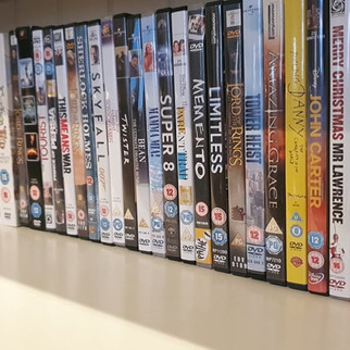 Loads of books, games and DVD's
