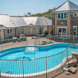 Porth Veor swimming pool is a short walk away