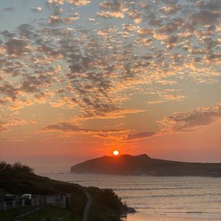 Evening sunset over Porth
