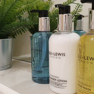 We love the gentle scents of our complimentary soaps and creams