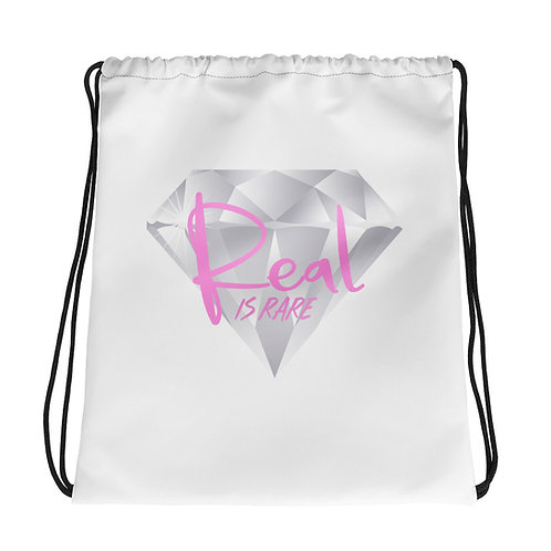 Real Is Rare Diamond Drawstring Bag