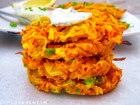 SPICY CARROT FRITTERS