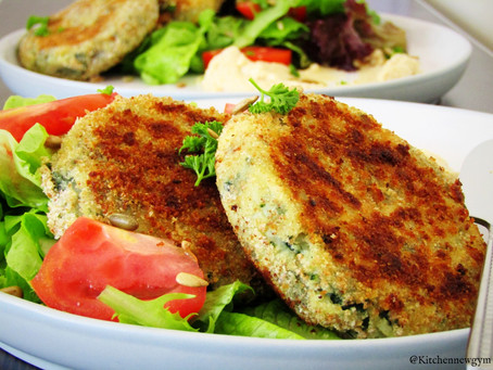 POTATO AND SPINACH CAKES