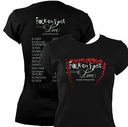 FolkonFoot4LadiesFittedT-shirtBlack_720x