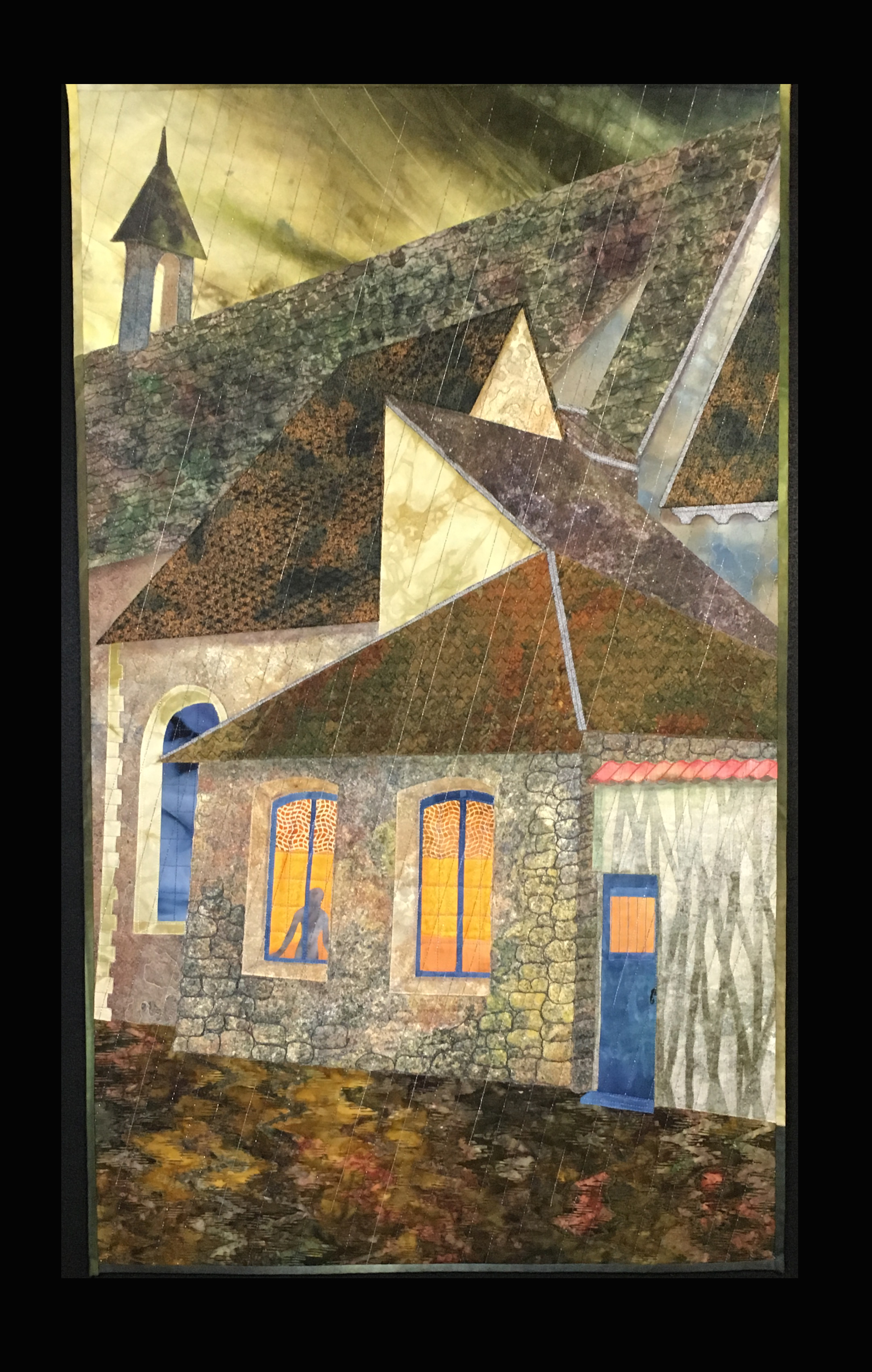 Rainy Day, French Village, 37x22_