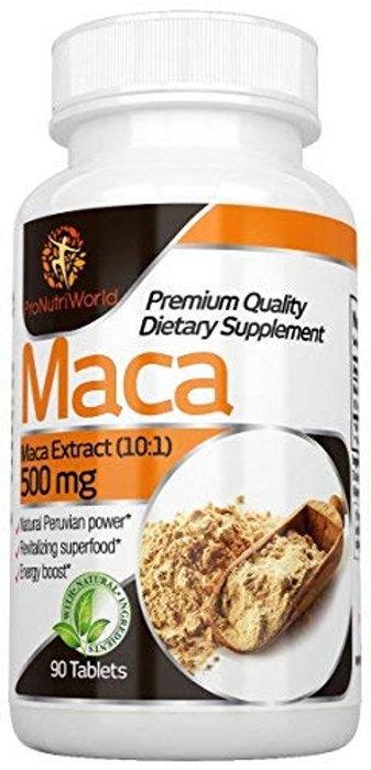 Maca Root Tablets 500mg | 90 Vegetarian Tablets | Libido & Fertility  Enhancer