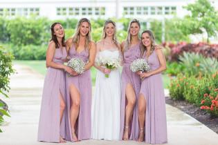 bridal party wedding at grand hyatt bahamar