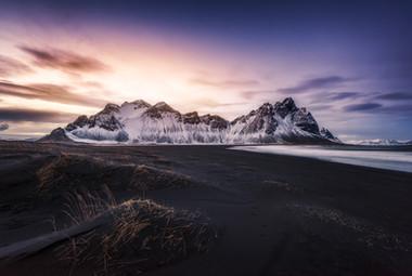 Stokksnes. Islandia