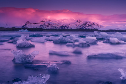 Jokulsarlon (laguna). Islandia