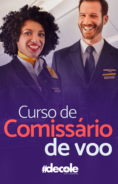 Curso comissário(a) de voo à distância