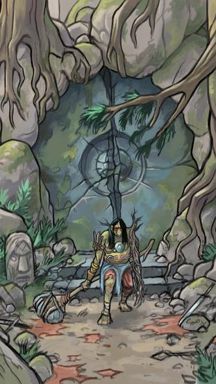 Troll cave entrance