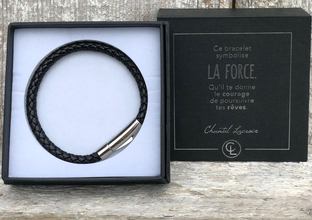 """Bracelet/boîtier """"La force-courage"""""""