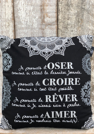 """Coussin """"Inspirant"""""""