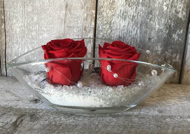 """Duo roses éternelles """"Rouge"""""""