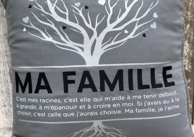"""Coussin """"Ma famille"""""""