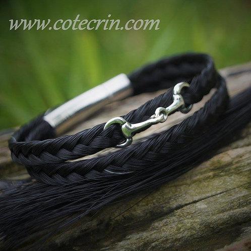 Bracelet fin avec mini mors en argent