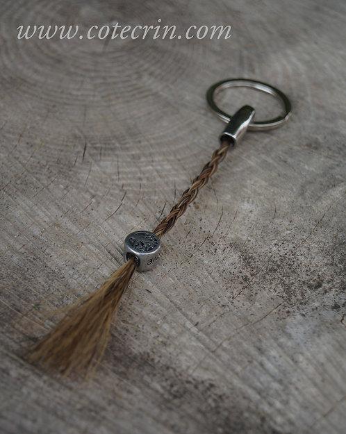 Porte clé droit avec meche