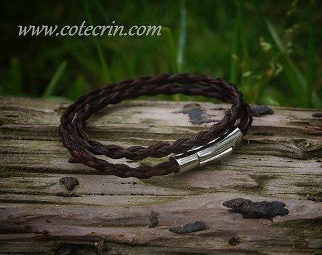 Bracelet fin corde 2 tours de poignet