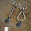 Thumbnail: Porte clé avec médaille d'acier gravée