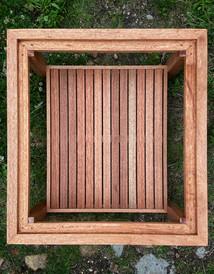 Hardwood garden table,  E17