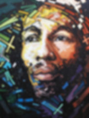08_Timespace_Activist.jpg Bob Marley, hand painted portrait, oil on canvas