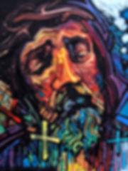 06_Timespace_Shepherd.jpg portrait of Jesus Christ, oil on canvas, original art