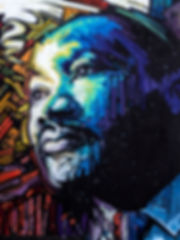 04_Timespace_Dreamer.jpg Painted portrait of Martin Luther King, Jr., original oil painting, oil on canvas by John Paul Schafer. Timespace Dreamer.