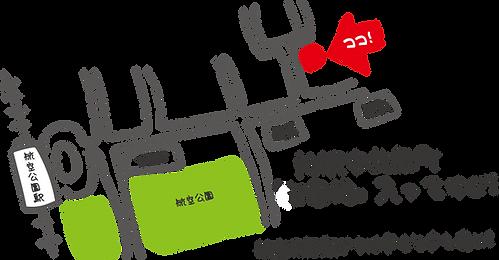 地図、所沢市北原町卸団地内