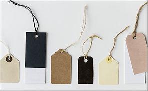 商品タグ・商品台紙・紙帯