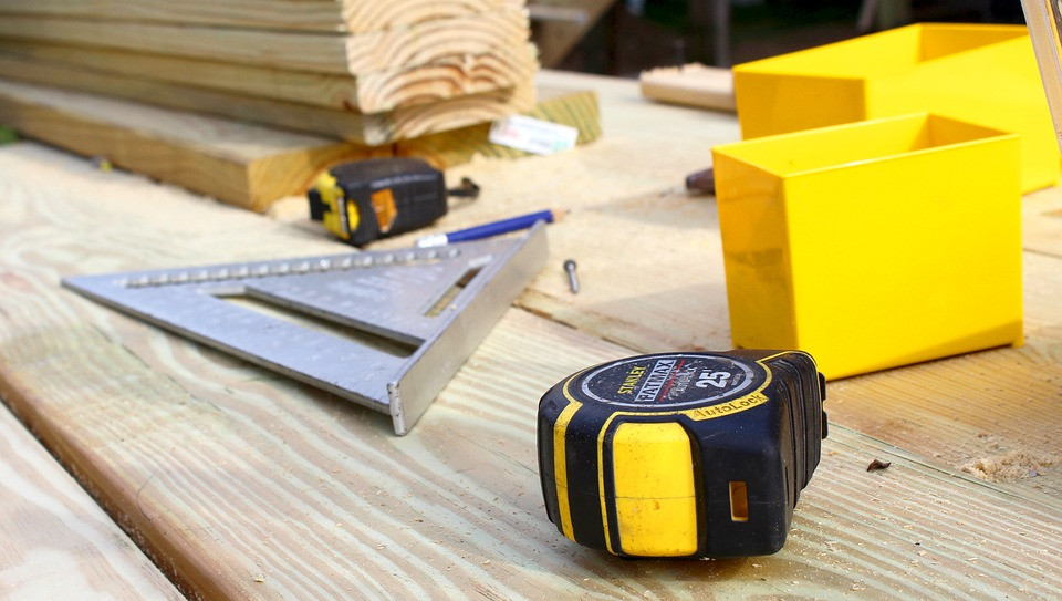 Tool Carpentry Construction Tape Measure Yellow