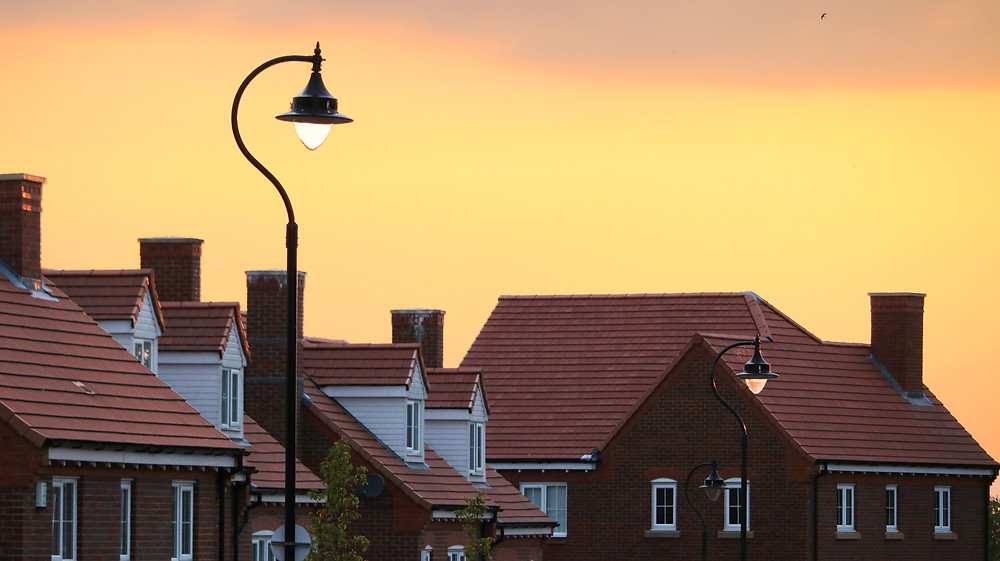 A street of houses near our roofers, Tiverton