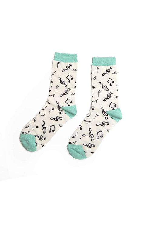 Sanau Music Notes Miss Sparrow Socks