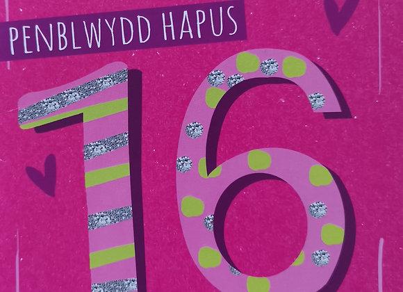 Penblwydd Hapus 16 Oed