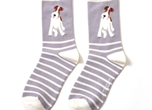 Sanau Terrier Light Grey Miss SparrowSocks