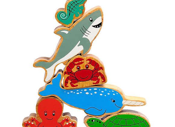Set o 6 Anifailiaid Y Mor / Set of 6 Sea Life Animals