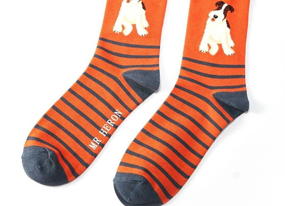 Sanau Fox Terrier Stripes Mr Heron Socks