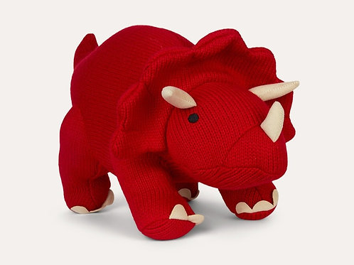 Knitted Triceratops Dinosaur