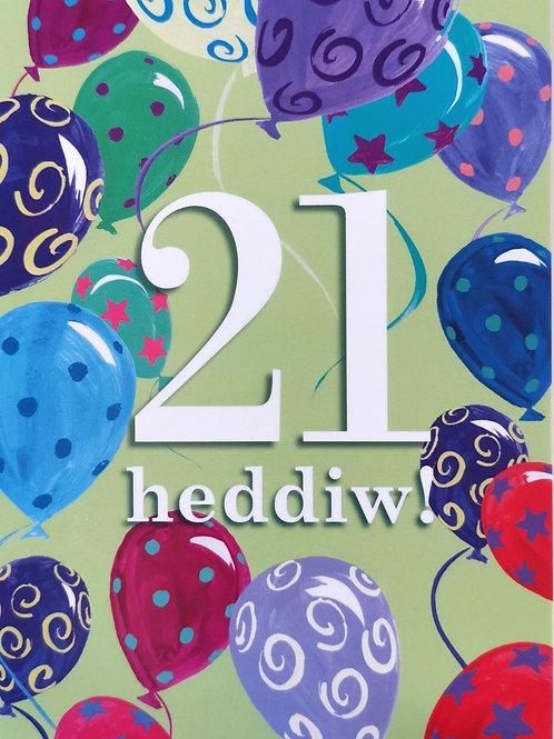 Penblwydd Hapus 21 Oed